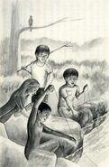 Animorphs fishing for trout The Encounter Japanese illustration