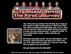 Alternamorphs The First Journey on scholastic web site.png