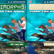 Animorphs 12 the reaction Phản tác dụng vietnamese covers books 23 and 24.jpg