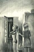 Rachel Melissa Chapman locker room The Visitor Japanese Illustration