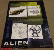 Australian alien characters poster
