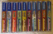 Animorphs german cassette tape spines 1-10