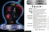 Cassie MM1 trading card front and back