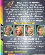 Animorphs 9 the secret french back cover