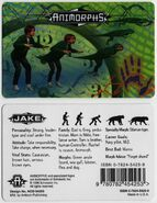 Animorphs Jake ID card front and back