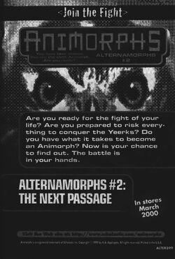 Alternamorphs 2 next passage ad from inside book 39.jpg