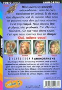 Animorphs 42 the journey L Expedition french back cover folio junior
