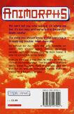 Animorphs 8 the alien UK back cover 1998 edition