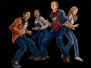 Animorphs human members from Shattered Reality game