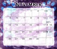 12 2000 calendar November month
