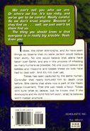 Animorphs book 43 the test back cover
