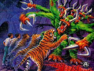 Animorphs jake tiger visser three jigsaw puzzle completed.jpg