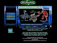 Scholastic.com web screenshot transformers mega ax tobias visser three