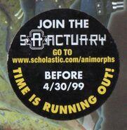 Animorphs book 29 sanctuary ad sticker