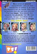 Animorphs 17 the underground Le Piege french back cover folio junior