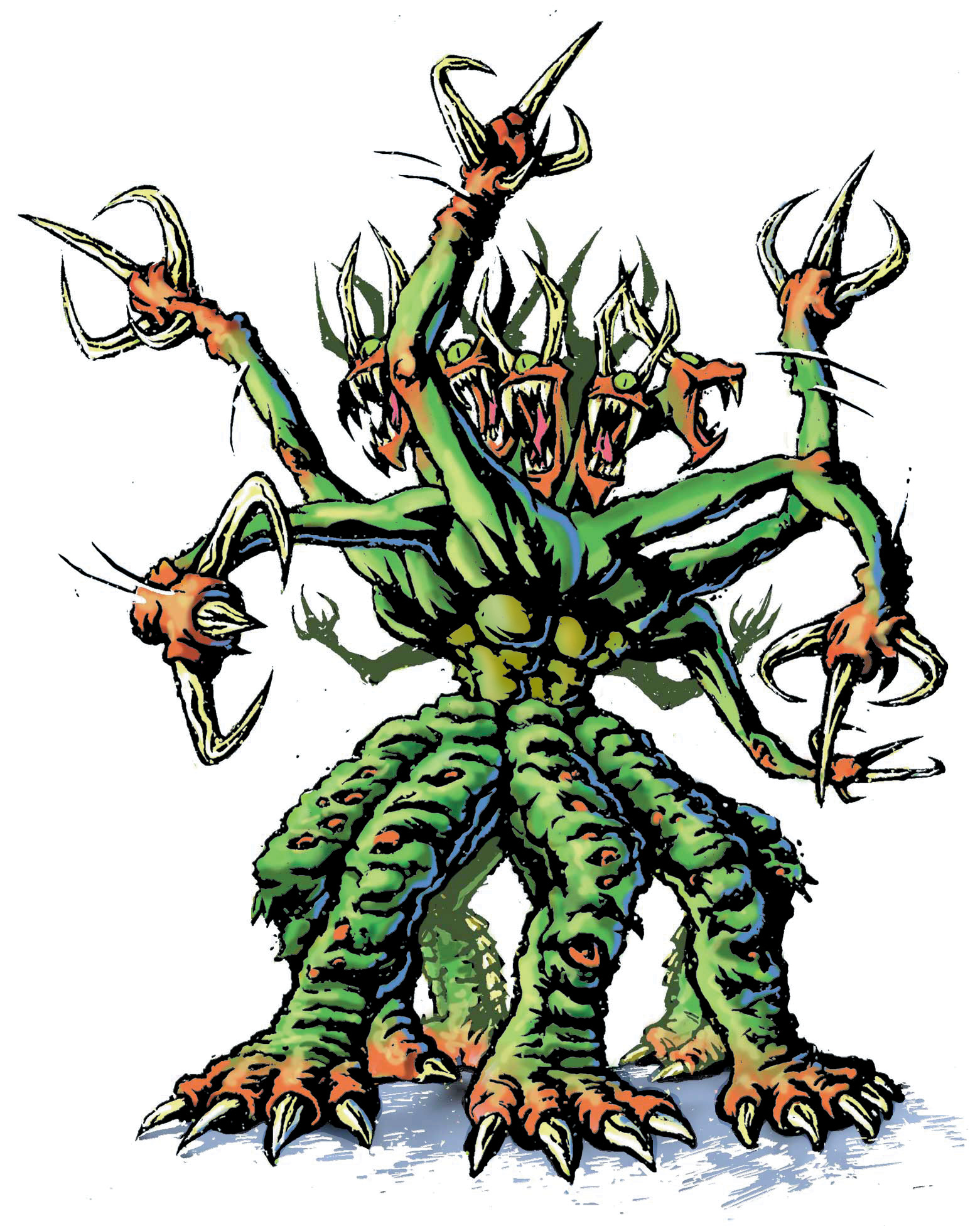 Unnamed Creature with Eight Heads and Eight Legs