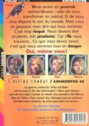 Animorphs 54 the beginning l'ultime combat french back cover