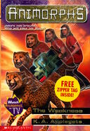 Animorphs 37 the weakness with zipper tag keychain shrink wrapped