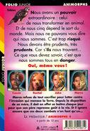 Animorphs 5 the predator Le predateur french back cover folio junior