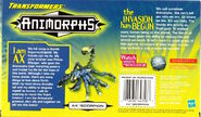 Transformers mega ax scorpion in box back