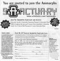 Invited to join animorphs sanctuary ad front and back