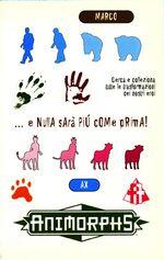 Animorphs 38 the arrival l arrivo italian stickers adesivi.jpg