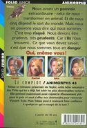 Animorphs 43 the test Le Complot french back cover folio junior