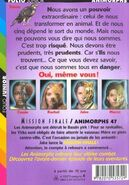 Animorphs 53 the answer mission finale french back cover