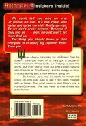 Animorphs 10 The Android back cover