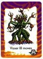 Visser Three eight headed creature invasion game card