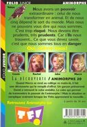 Animorphs 20 the discovery french back cover