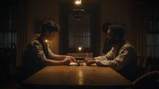 Bash und Gilbert reden