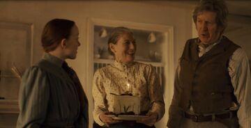 Marilla und matthew bringen Annes Kuchen