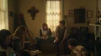 Gilbert und Anne unterhalten sich