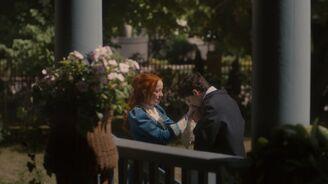 GIlbert küsst Annes Hände