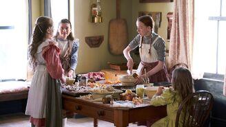 Mädchen kochen