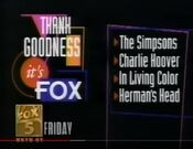 WNYW Fox 5 - Thank Goodness It's Fox Line-Up - Friday promo for November 30, 1991