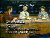 KDKA TV2 Eyewitness News 12PM close - February 6, 1985