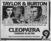 WOR Channel 9 - Cleopatra - Tonight promo for November 6, 1984