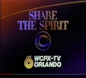 CBS-TV's Share The Spirit Video ID With WCPX-TV Orlando Byline - Late 1986
