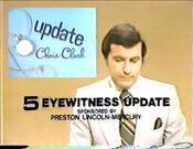 WTVF TV5 Eyewitness News Update With Chris Clark bumper - Thursday Night, December 21, 1978