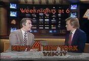 WNBC News 4 New York 6PM - Chuck Scarborough And John Hambrick - Weeknights promo - Mid-Late January 1982