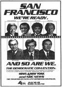WNBC News 4 New York & NBC News - The Democratic Convention - Live Coverage promo for July 16-19, 1984