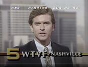 WTVF Channel 5 Eyewitness News 10PM, Delay Edition - Tonight ident for August 23, 1984