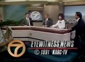 KABC Channel 7 Eyewitness News 6PM Weekend close - July 6, 1991