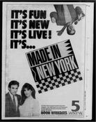 WNYW Fox Channel 5 - Made In New York - Weekdays promo - Mid-Late December 1986