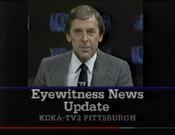 KDKA TV2 Eyewitness News Update - Tonight ident for April 10, 1985
