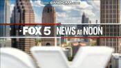 WAGA Fox 5 News 12PM open - Late December 2019