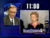 WNBC Newschannel 4 11PM - Tonight ident for February 9, 2000