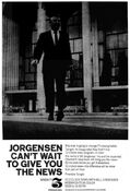 WNEW Channel 5 News, The 10PM News With Bill Jorgensen - Premiere Tonight promo for March 13, 1967